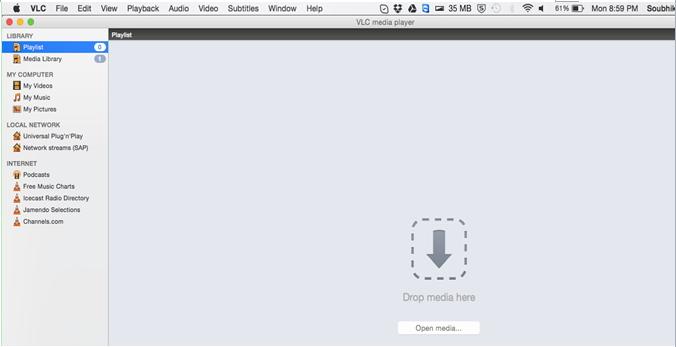 Wie kann man SopCats mit dem VLC Player abspielen ?