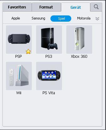 WMV auf PSP laden