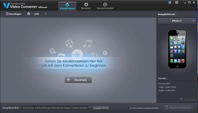 m2ts datei in video converter hinzufügen