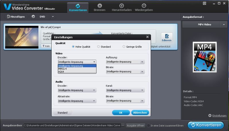 mpg datei in mp4 umwandeln mac