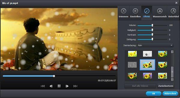 Videos mit dem AVCHD to MP4 Converter bearbeiten