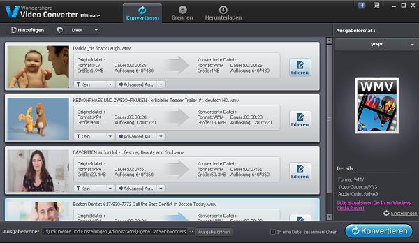 Videos zuerst in iPhone optimiertes Format konvertieren