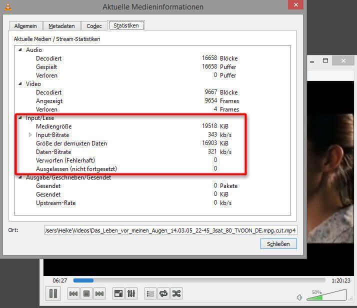 Erste Hilfe bei Problemen mit dem Abspielen von Dateien mit dem VLC media player