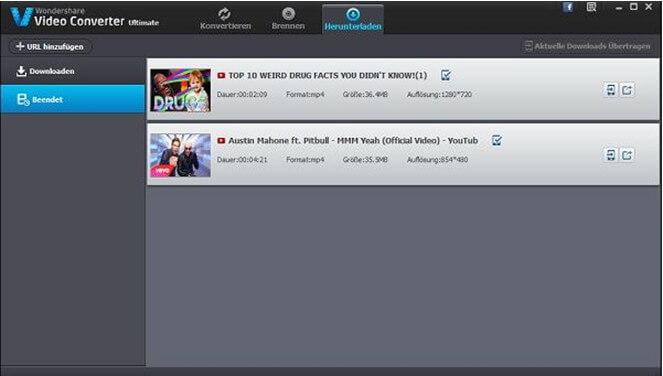 Dateien mit Wondershare konvertieren