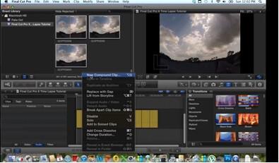 Schritt für Schritt Anleitung für Time-Lapse Videos mit Final Cut Pro