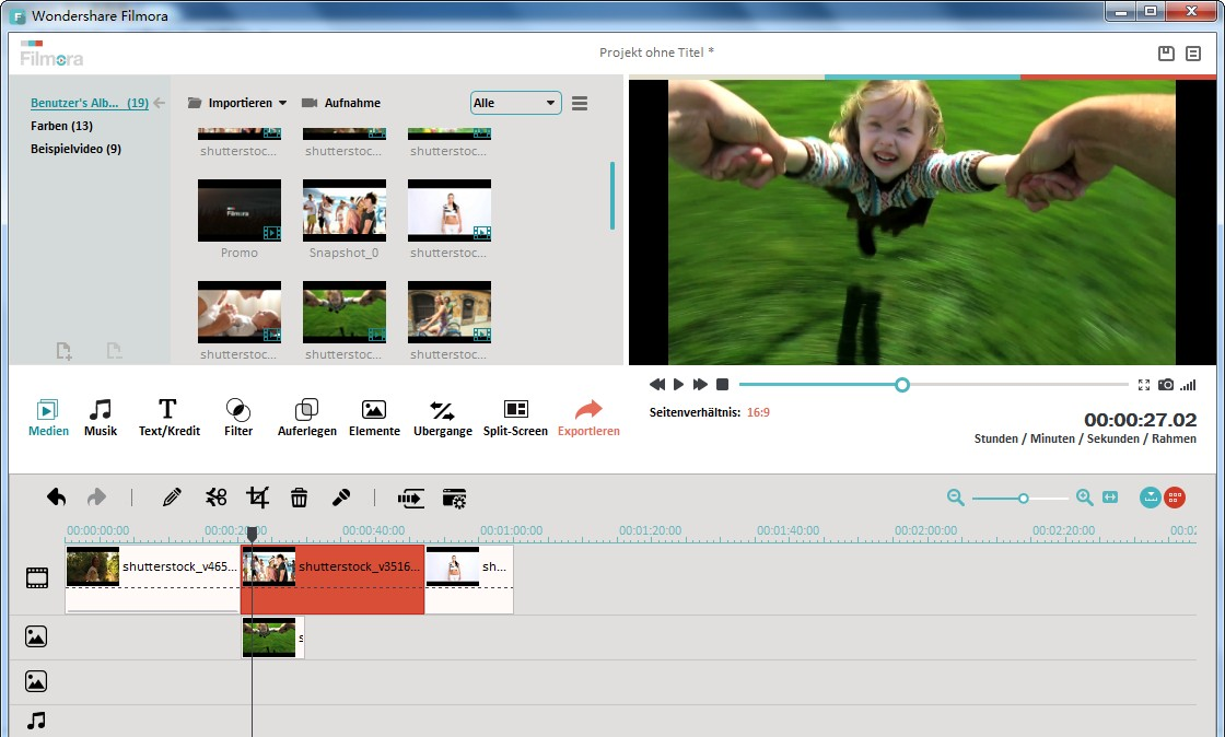 Videos splitten mit Wondershare Filmora (Vormals Wondershare Video Editor)