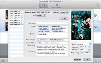 Video Converter Pro für Mac key feature
